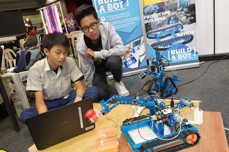 Straits Times picture of youth makers