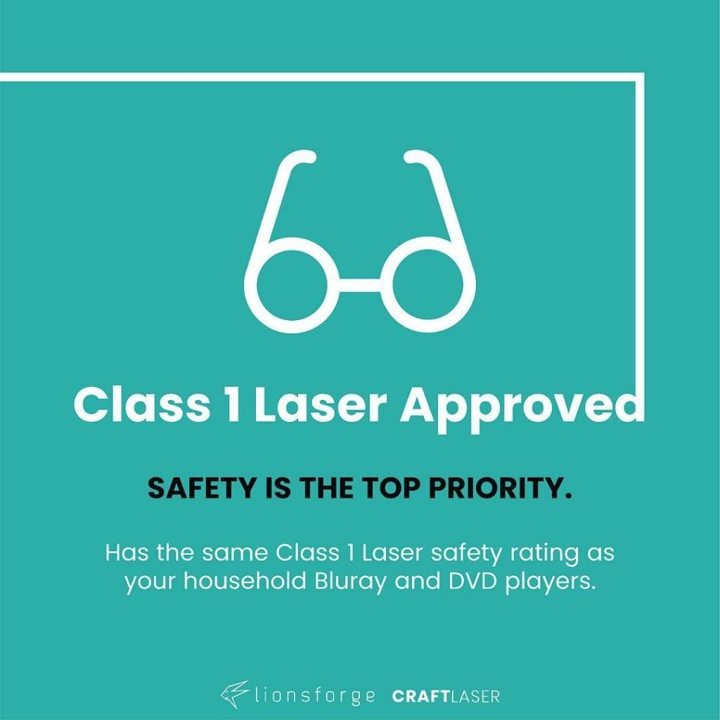 CraftLaser received the official Class 1 Certification.