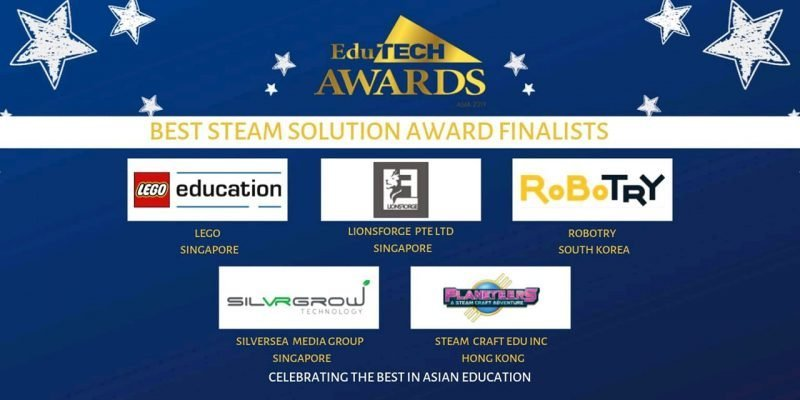 Lionsforge shortlisted in the Best STEAM solution finalists by EDUTECH awards.