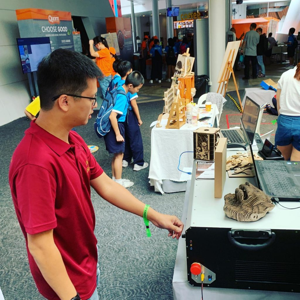 CraftLaser at the Singapore Maker Extravaganza.