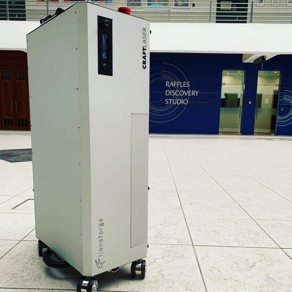 CraftLaser delivered to Raffles Institution.