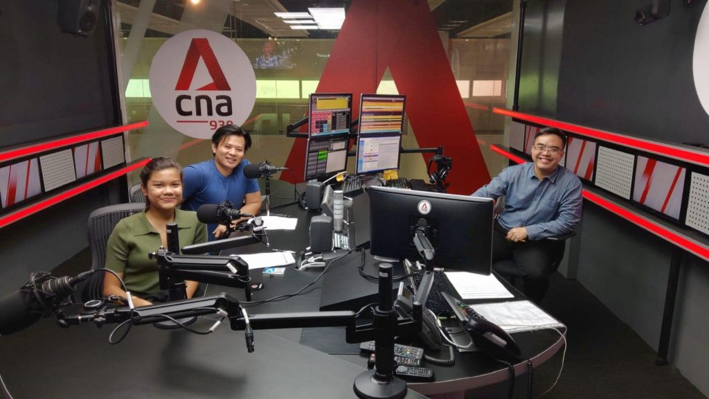 Kee Wee was invited to CNA938 radio station for an interview.
