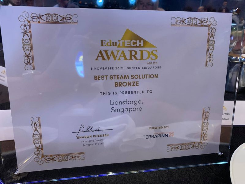 CraftLaser goes to the Edutech Asia 2019 and awarded the Bronze award.