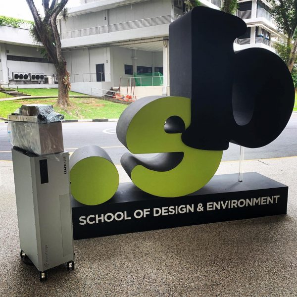 CraftLaser delivered to Ngee Ann Polytechnic , School of Design and Environment.