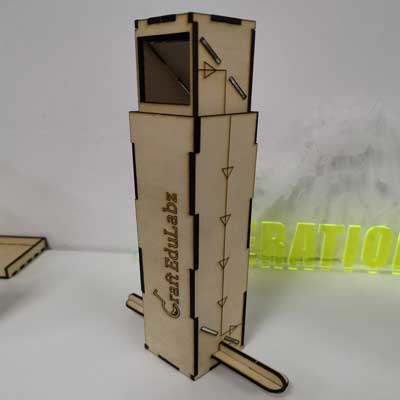 CraftLaser used to make a periscope out of wood