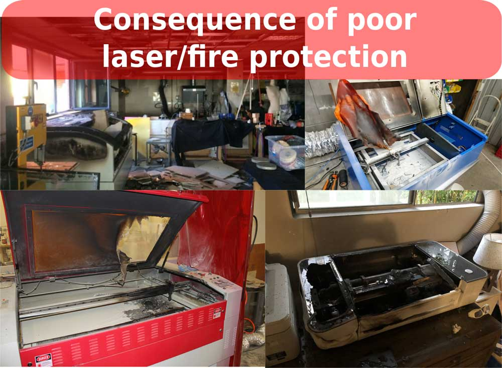 Consequence of bad fire safety for laser cutter