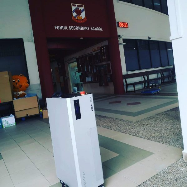 CraftLaser delivered to Fu Hua Secondary School.