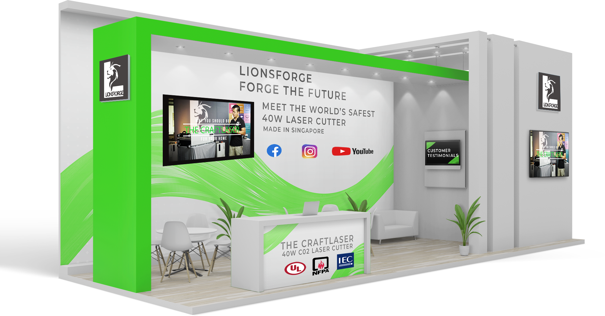 Lionsforge Craftlaser virtual booth